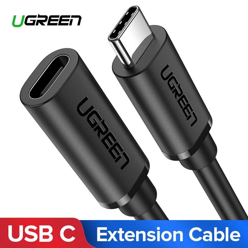 Ugreen USB-C tipo de Cable de extensión C extensor de Cable USB-C Thunderbolt 3 para MacBook Pro Nintend interruptor USB 3,1 USB cable de extensión