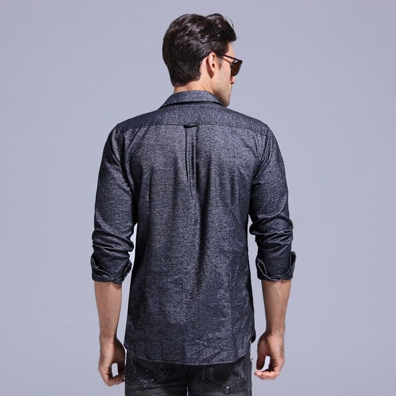 2018 New Spring Pocket Mens Shirts Casual Fashion Style Men Shirt Long Sleeve Top Quality Outwear Social Shirt Men