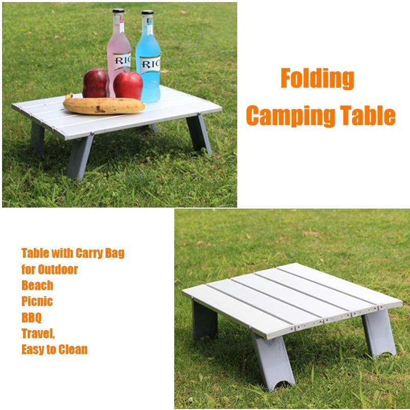 Image 5 - Outdoor travel aluminum portable folding camping table foldable folding picnic tables hiking lightweight roll up camp desk tableOutdoor Tools   -