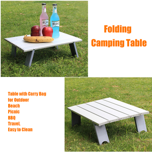 Image 5 - Outdoor travel aluminum portable folding camping table foldable folding picnic tables hiking lightweight roll up camp desk table