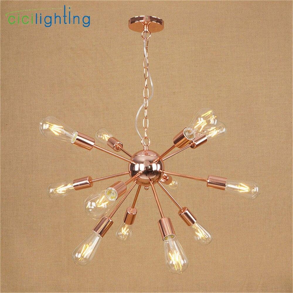 Haute qualité plaqué lustre moderne arbre branche araignée chaîne lustre lustres 9/12/15/18/21 lumière Art décor suspension - 5