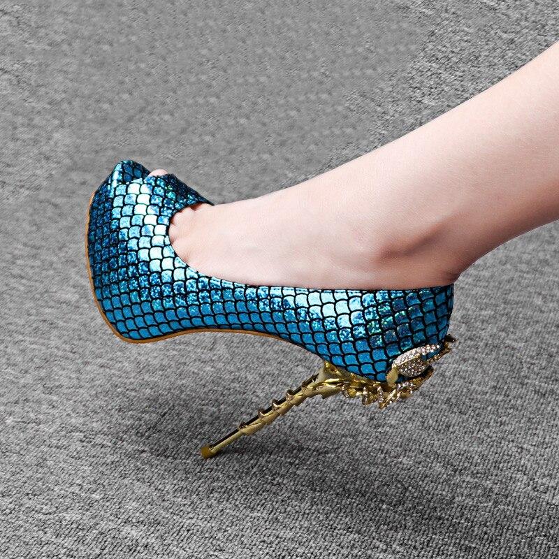 Sexy rose Hauts Serpentine En Talons Suede Talon Super De Toe gold Individuels Plate 14 Pompes Cm Peep Suede yellow blue Chaussures blue Black Soirée Femme red forme Métal Suede dIqwwP6F