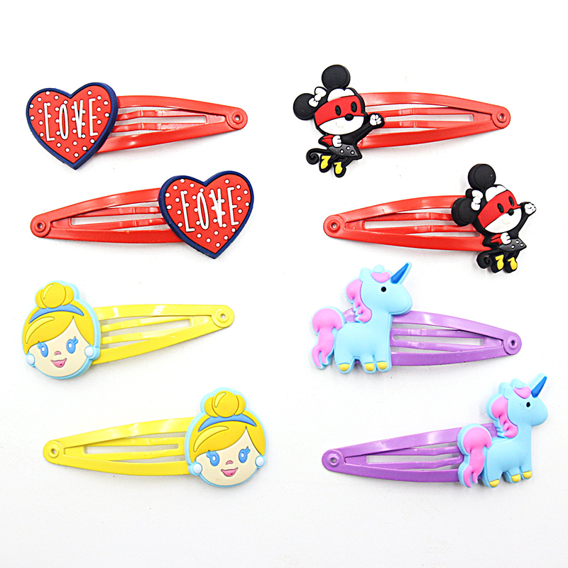 2 PCS Cute Cartoon Animal Girls Hair Accessories Baby Hair Clips Kids Hairpins Lovely Children Hair Ornaments Kawaii Hairgrips baby cute style children accessories hairpins rabbit fur ear kids girls barrette lovely hair clip