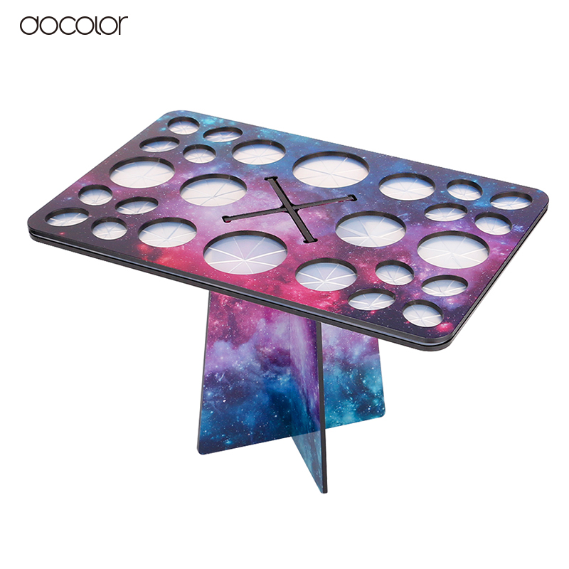 Docolor New Stars Makeup Brushes Holder Collapsible Drying Make Up Brush Stand Cosmetic Tool цена