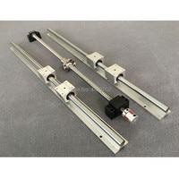 Free shipping ball screw SFU1605 & 2Pcs linear guide SBR16 L200/300/400/500mm +4 pcs SBR16UU & BK12 and BK12 & coupler 8 *10