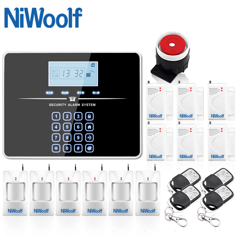 DHL Free Shipping English Russian Voice Wireless GSM Alarm System Home Burglar Security Touch Keyboard Alarm
