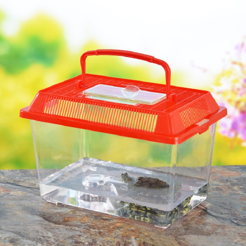 Aquarium Mini Fish Tank Goldfish bowl turtle pet Reptile Tortoise cage ...