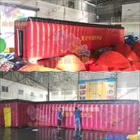 Large simulated fire drill tent fire escape inflatable tunnel tent for children safety education
