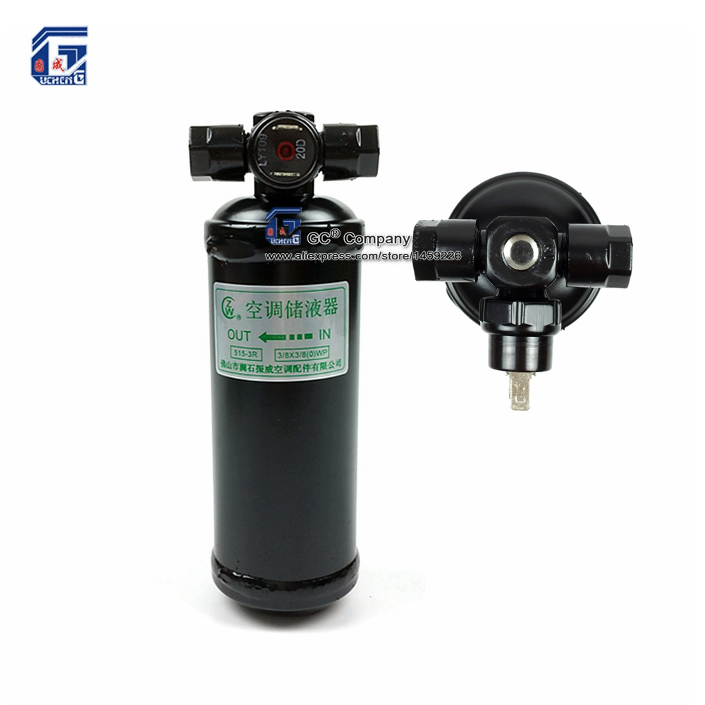 515-3R Receiver Drier Accumulator Filter #6 Thread 5/8''-18 with Switch for Automotive A/C Air Conditioning