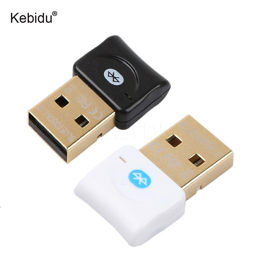 Kebidu Newest USB Bluetooth 4.0 Dongle Adapter Mini Bluetooth Computer Receiver For Laptop Computer PC Win7/8/10/Vista/XP