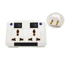 New independent switch Germany socket Splitter 1 jacks way outlet extend plug UK/US/EU/AU to converter