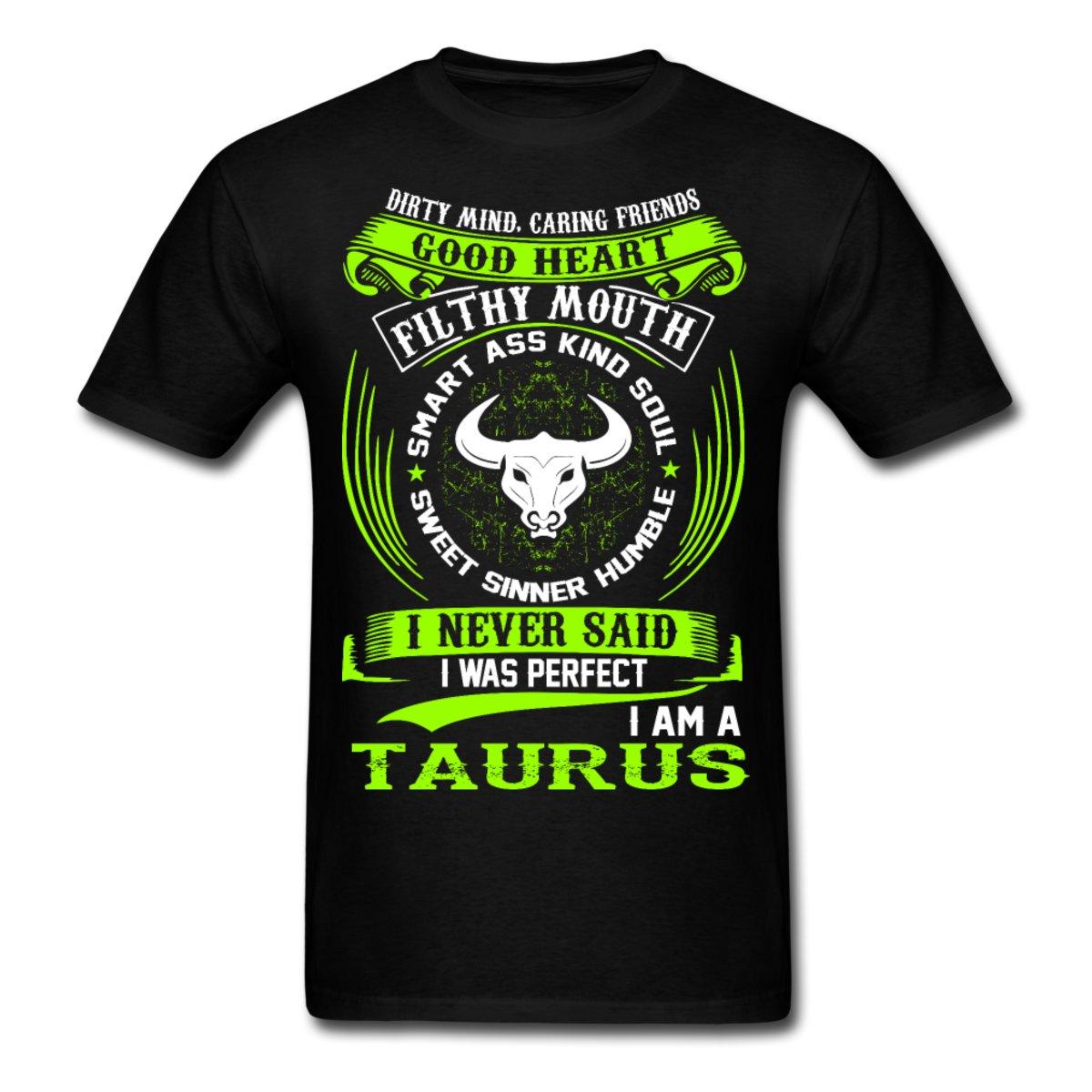 051a148fc4 Znaki Zodiaku Taurus Śmieszne Cytat Nigdy Doskonały męska Koszulka ...