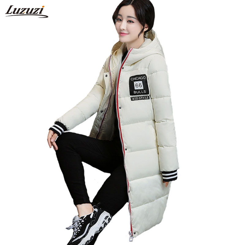 1PC Winter Jacket Women Winter Coat Women Hooded Parka Long Coats Manteau Femme Hiver Abrigos Mujer Invierno Z1563 thick winter jacket men coat mens winter jackets and coats parka manteau homme hiver abrigos hombres invierno hot sale 023