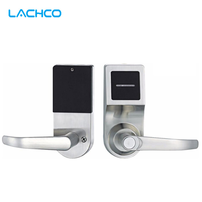 LACHCO Electronic Door Lock Smart RFID Card Lock For Home Hotel Apartment Office Zinc Alloy Single Latch L16086card lachco card hotel lock digital smart electronic rfid card for office apartment hotel room home latch with deadbolt l16058bs