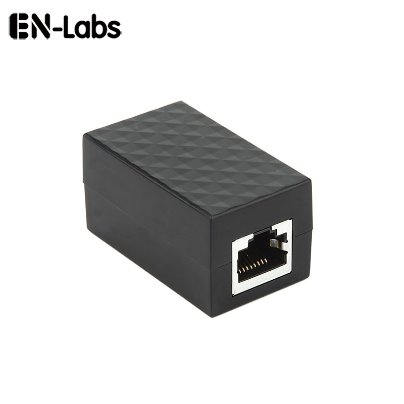 En-Labs Surge Thunder Lightning Protector RJ45 Lan Coupler Adapter, Cat6 7 5E Network Cable RJ-45 In-Line Connector Extender