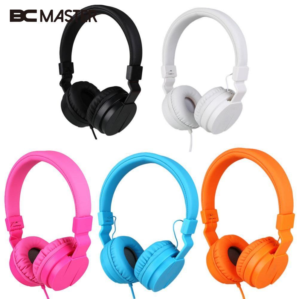 BCMaster Wired Foldable Stereo Headphone Over Ear Big Earphone For Phone MP3 PC girls/boys Gift Music Headset 5 Colors portable 3 5 jack wired headphone ear shaped cute foldable stereo headset sport led light gamer games headphones