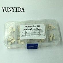 DIP  Optocoupler Kit 10value * 5pcs=50pcs 4N25 4N35 MOC3021 MOC3022 MOC3023 MOC3041 MOC3043 MOC3052 MOC3061 MOC3063 DIP + Box 50pcs 25q80bvaig w25q80bvaig dip 8