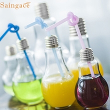 Saingace Amazing Bulb Water Bottle Cute Brief Fashion Cute Milk Juice Light Bulbs Leak-proof 1PC dropship