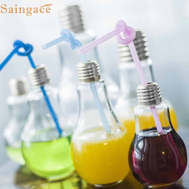 Saingace Amazing Bulb Water Bottle Cute Brief Fashion Cute Milk Juice Light Bulbs Leak-proof 1PC dropship ...