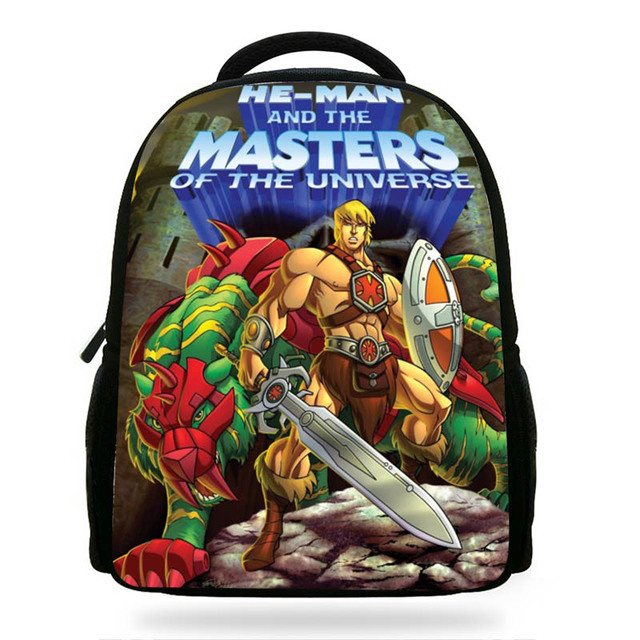 14inch Cartoon He-Man and the Masters of the Universe Printing Backpack  Boys School Bags Little Children Kids Daily Mochila 9b2da66a6a519