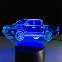 Nouvelle lampe de camion 3D à venir multi-couleur changement veilleuse acrylique Lampada vacances cadeau