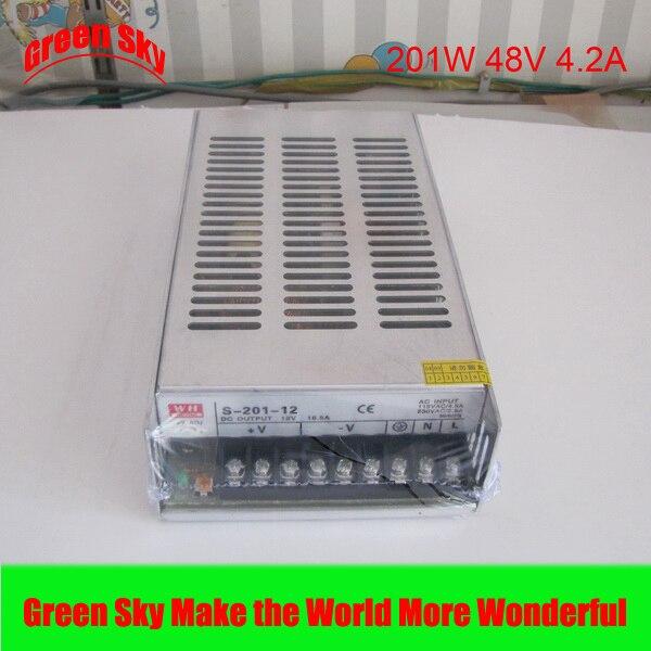 Nouvelle arrivée de haute qualité transformateur de tension LED affichage 201 W DC sortie unique LED alimentation 48 v smps