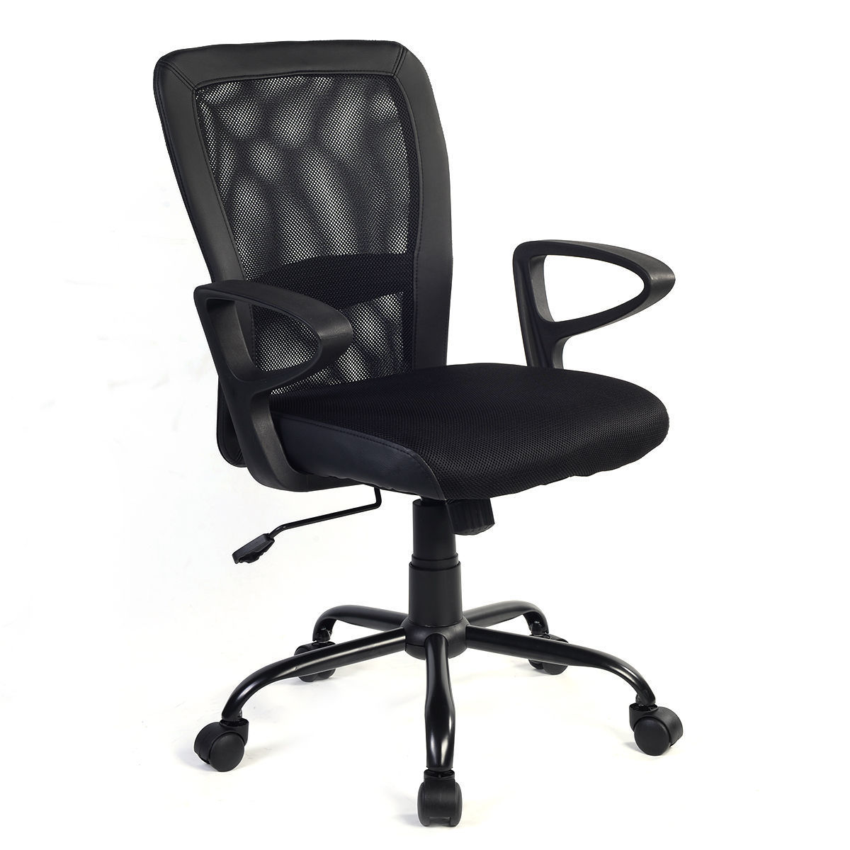 Giantex Modern Ergonomic Mesh Medium Back Office Chair Swivel Executive Computer Desk Task Chairs Office Furniture HW56131 1pcs 71805 71805cd p4 7805 25x37x7 mochu thin walled miniature angular contact bearings speed spindle bearings cnc abec 7