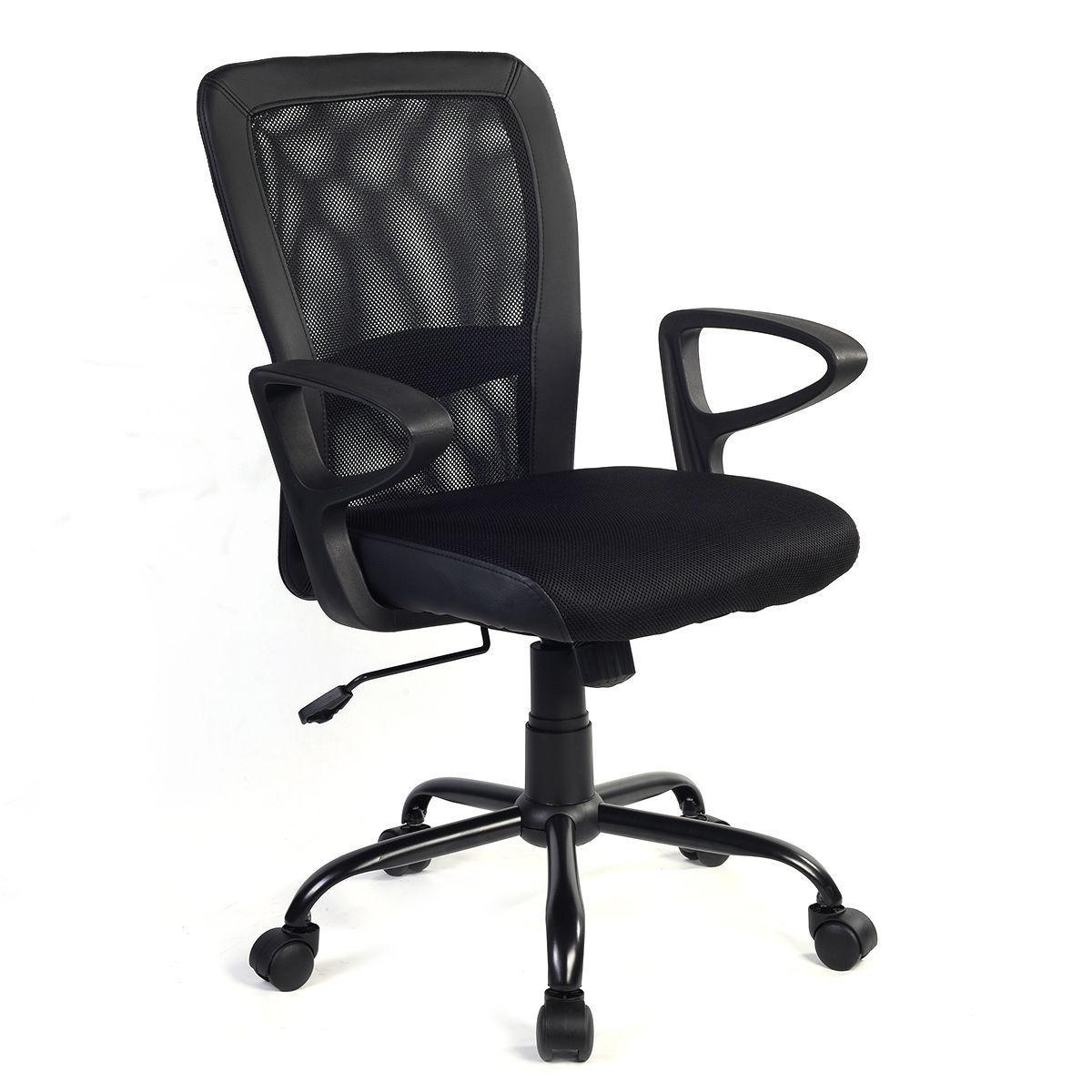 Giantex Modern Ergonomic Mesh Medium Back Office Chair Swivel Executive Computer Desk Task Chairs Office Furniture HW56131