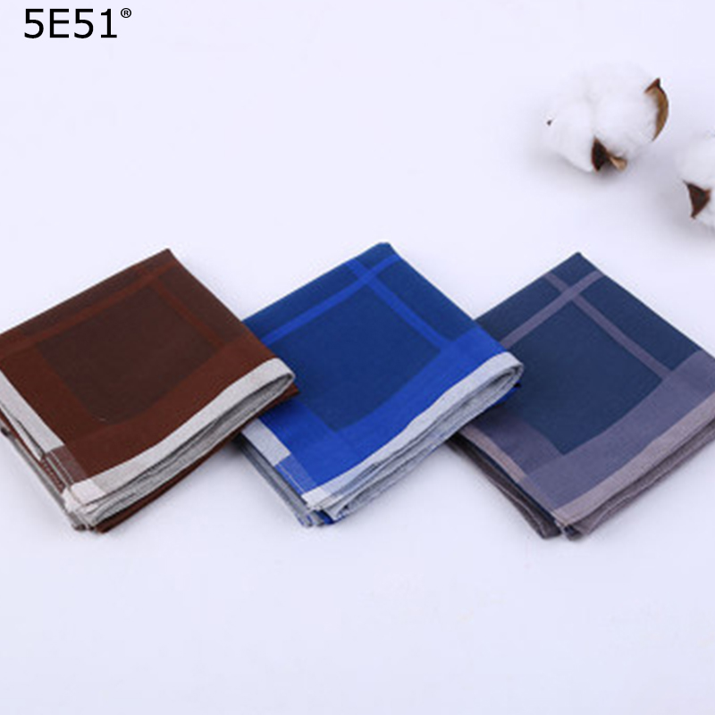 Men Handkerchief Cotton 100%/ Grid Printed 43cm/Many Uses