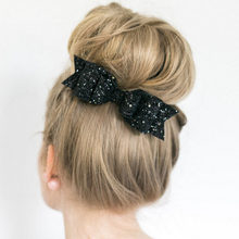 62a9b3e29a16 Glitter Big Bowknot Barrette Hair Bows Sequins Hairpins for Girls Shiny  Hair Clip for Women Christmas Decorations for Kids Girl