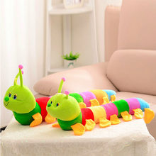 Cute 50cm Caterpillar Pillow Toys Popular Colorful Soft Lovely Baby Animal Educational Developmental Plush Toy for Kids Gift(China)