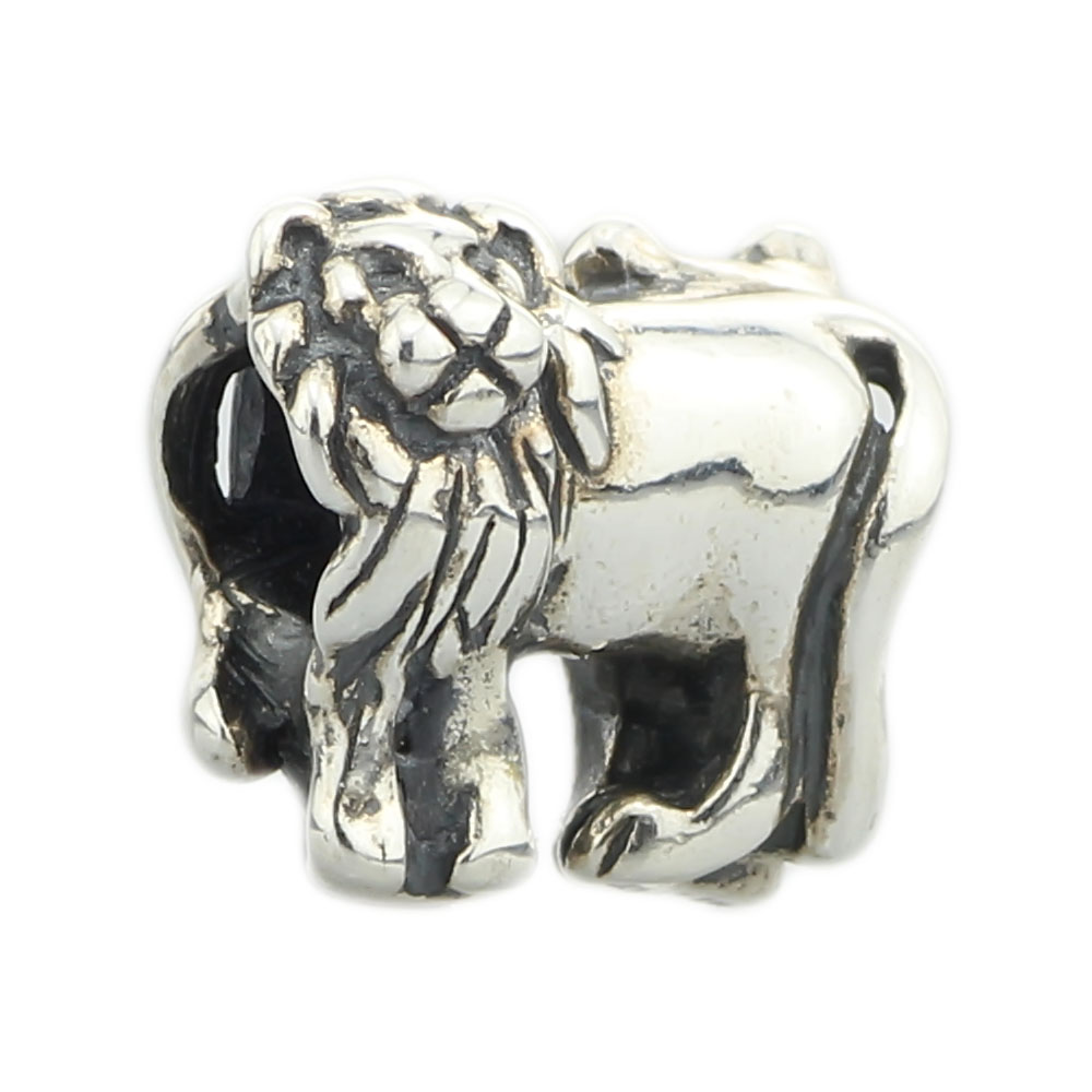Lions Bead Authentic 925 Sterling Silver Charms Jewelry Fit European Style Original Troll Bracelet & Necklace