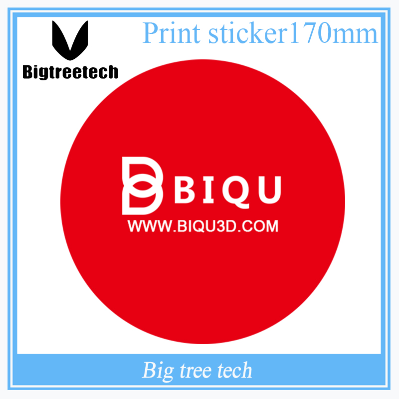 5PCS 3D Printer Parts BIQU Scrub Label Printing 170MM Gloss Laminated Super Thick Paper Industry Sticker Custom Design