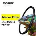Zomei 52/55/58/62/67/72/77/82mm Macro Filtro primer hasta + 1 + 2 + 3 + 4 + 8 + 10 lente close-up filtro para canon nikon sony pentax cámara