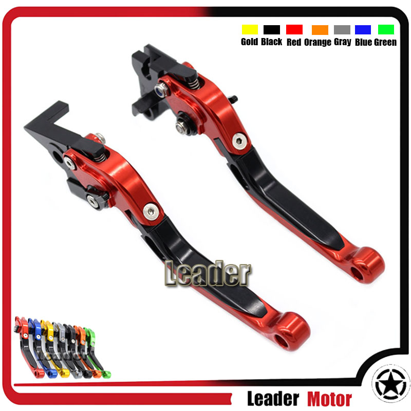 ФОТО For YAMAHA XSR 700 ABS XSR 900 ABS XV 950 Racer Motorcycle CNC Aluminum Folding Extendable Brake Clutch Levers Red