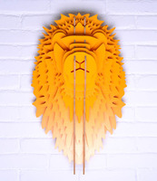 Дерево Львиная голова для Настенный декор, резьба по дереву деревянная скульптура, декоративный объект, корабль DIY, деревянные резные Лев, э