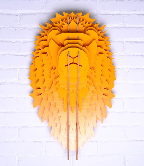 wood Lion head for wall hanging decor,wood carving wooden sculpture ...
