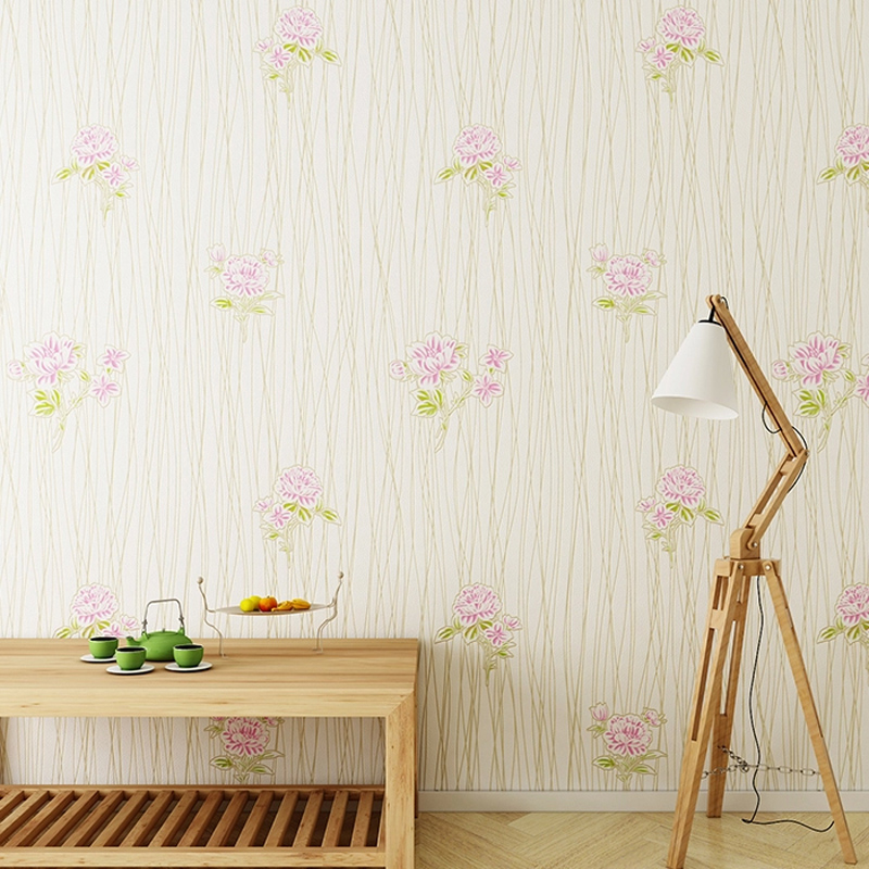 Home Improvement Bedroom Wallpapers Non Woven Wall Paper for Walls Rustic Wallpaper Flower for Living Room 3D  Paper Contact
