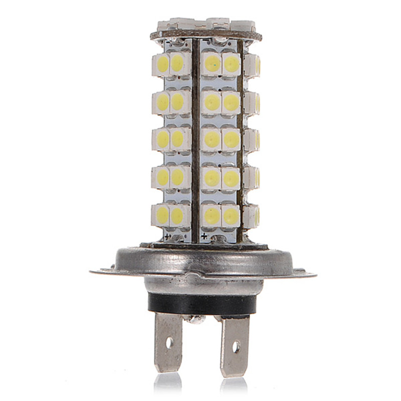 Universal LED Car Light H7 68 SMD 3528 1210 LED White Car Auto Vehicle Headlight Bulb Fog Head Lights  Lamp Bulb dc12v h7 7 5w 5led led fog light high power car auto led xenon white daytime running light bulbs headlight head lights