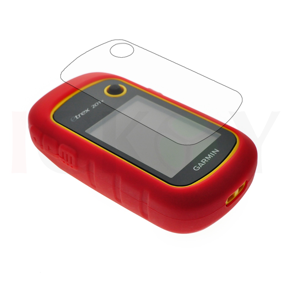 Outdoor Handheld GPS Silicon Rubber Protect Red Case Cover + LCD Screen Protector for Garmin eTrex 10 20 30 10x 20x 30x 201x