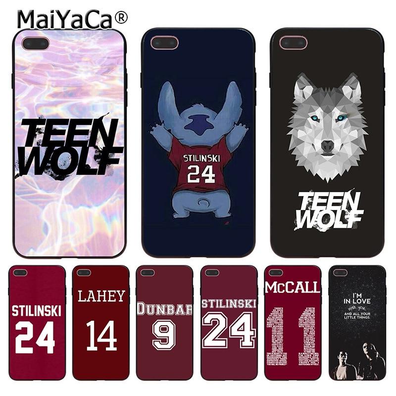 MaiYaCa Teen Wolf Stilinski 24 McCALL 11 LAHEY 14 DUNBAR 9 Coque Phone Case for Apple iPhone 8 7 6 6S Plus X 5 5S SE 5C Cover