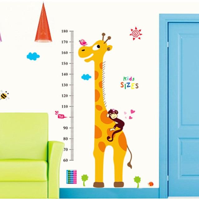 kitchen wall sticker kids measuring height 1.8 meters tall giraffe