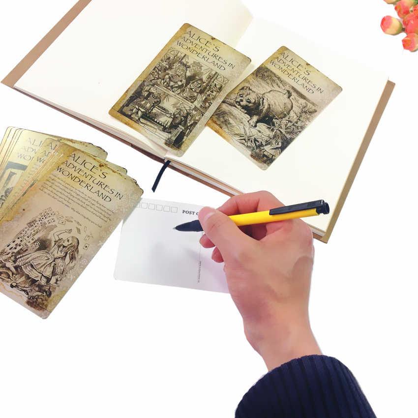 20 pièces/lot Alice Carte Postale cartes de voeux peinture Carte Postale Invitation Carte Postale bureau école fête fournitures