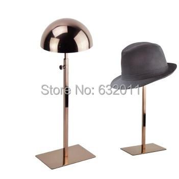 De oro rosa de Metal soporte de exhibición del Sombrero sombrero sombrero sombrero tapa del soporte de exhibición estante de exhibición de rack titular