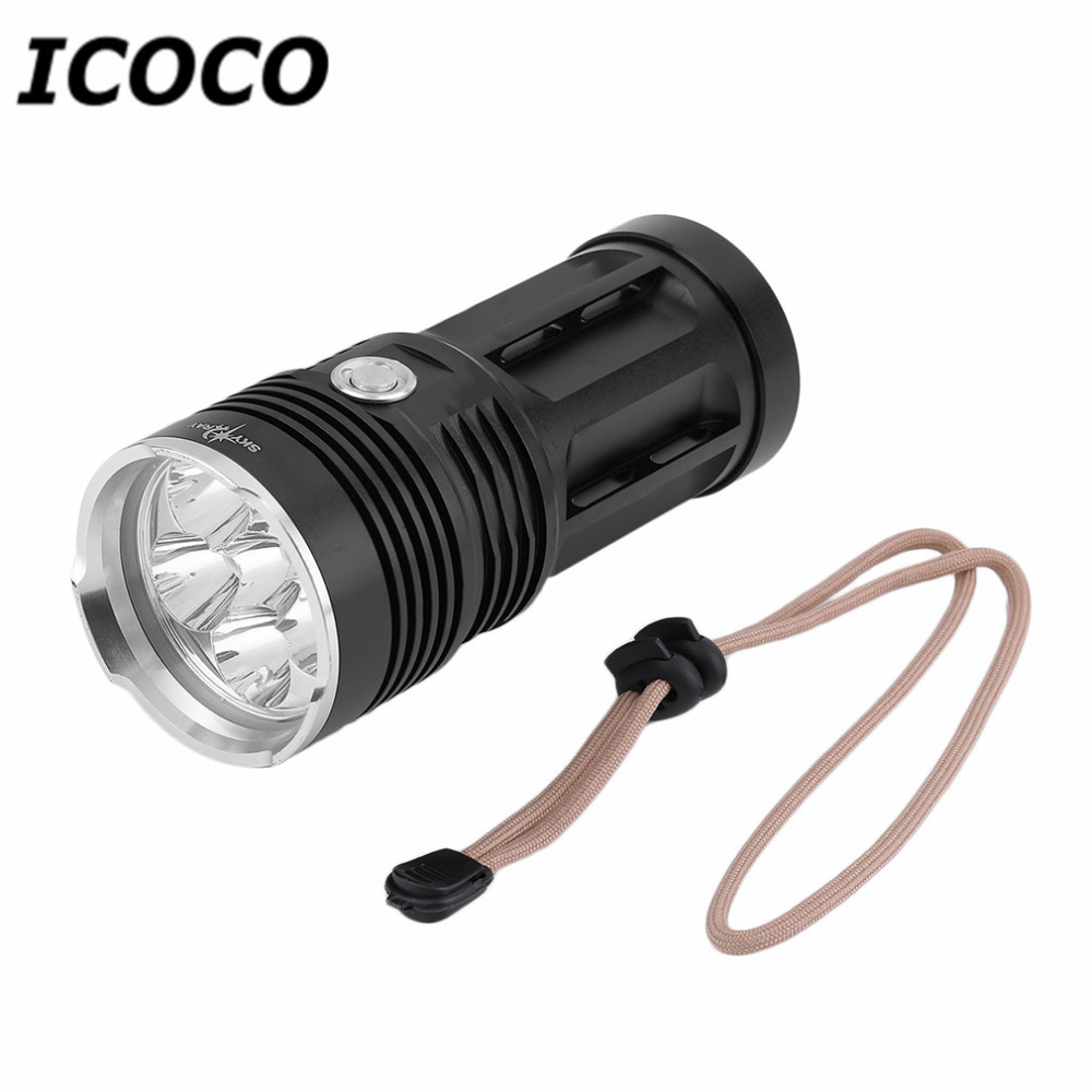 Portable Handheld T6 3 6 11PCS LED Aluminum Alloy Outdoor Hunting Flashlight Waterproof Super Bright Camping