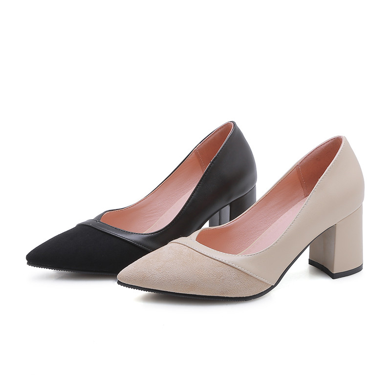 43 donna Wedding Beige alti pumps Women Asumer Prom nero Elegante Size Big Tacchi Fashion Square Shoes For 33 wqHpqx