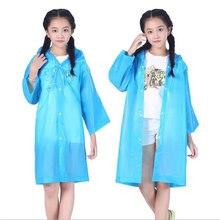 a25d2564da1ae Enfants manteau de pluie Poncho Long Transparent étudiant enfants fille  garçon veste de pluie en plastique imperméable couvertur.