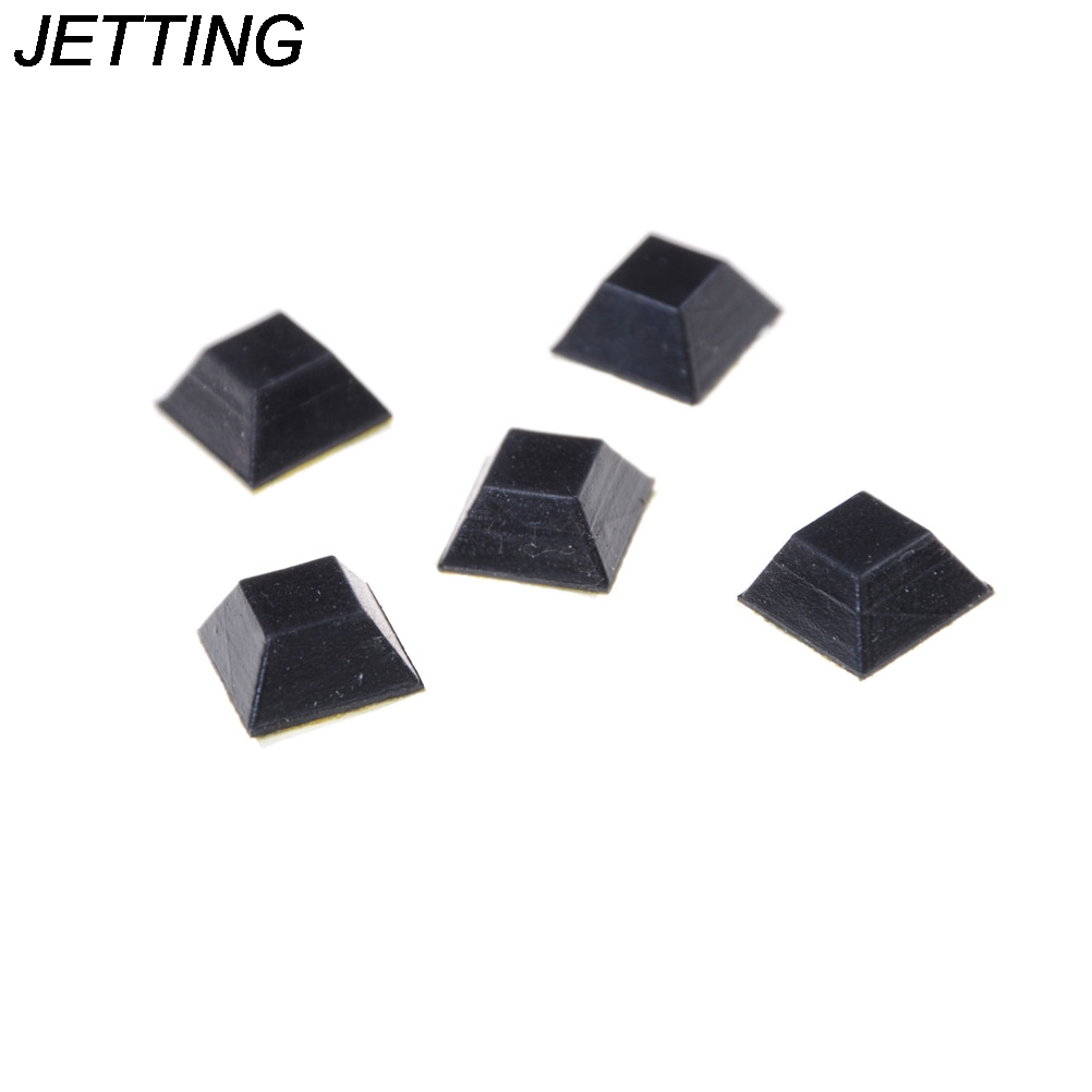 JETTING 20pcs Black Rubber Table Chair Furniture Feet Leg Pads Tile Floor Protectors Wholesale