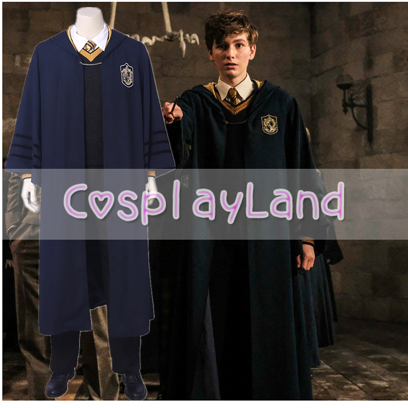 Fantastic Beasts Young Newt Cosplay Costume Fancy Halloween Costume Grindelwald Newt Scamander Costume Hogwarts School uniform