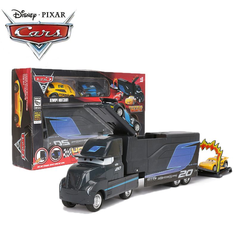 3pcs/set Disney Pixar Cars 3 Toys Alloy Model Car Black Jackson Storm Dinoco Pull Back Diecast Cars Collectible Model Boys Gift